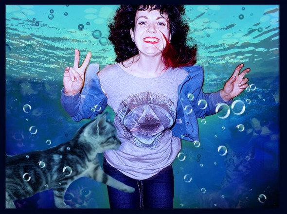 Alex Underwater (with Cats)